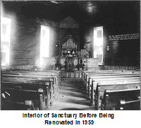 Interior of Sanctuary Before Being renovated in 1959